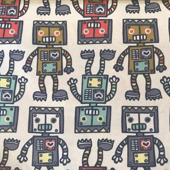 Robot-multi digital on linen