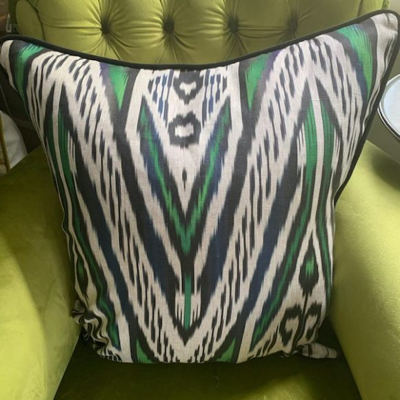 black-and-green-ikat